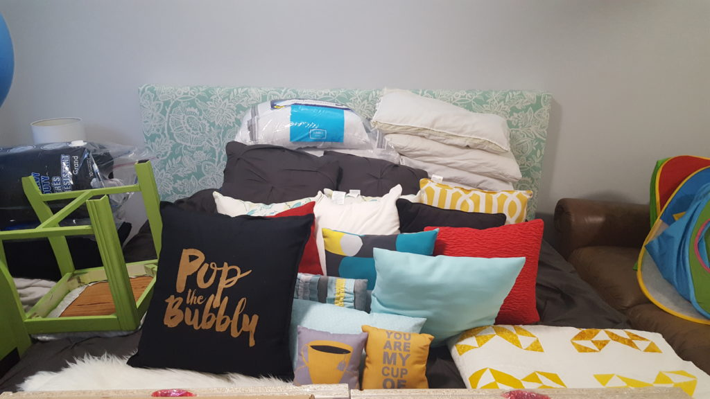 messy-basement-guest-room-throw-pillow-collection