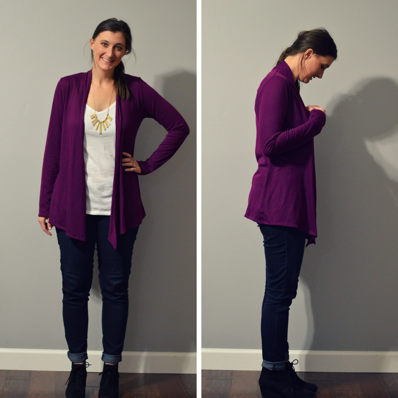 stitch fix cardigan and necklace