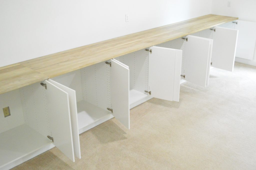 CraftArt Driftwood Counters Ikea White Cabinets Open 2