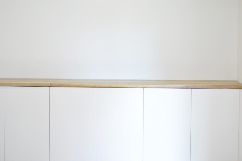 CraftArt Driftwood Counters Ikea White Cabinets White Room 2