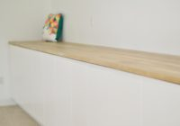 CraftArt Driftwood Counters Ikea White Cabinets with Inspiration Pillow 2
