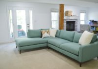 Basement Family Room Aqua Sectional 2