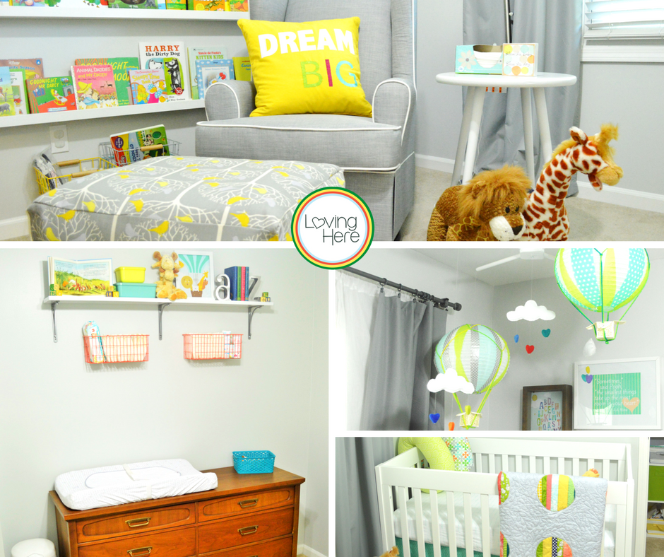 will's nursery collage colorful and bright gender neutral nursery design insiration