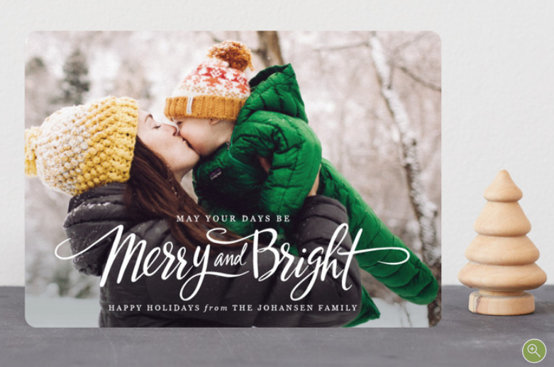 Minted Card Merry and Bright