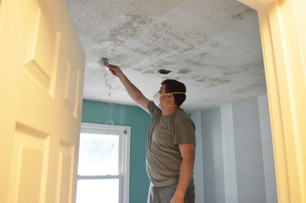 Scraping Nursery Ceiling