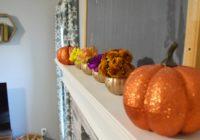 simple halloween mantle