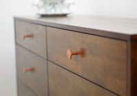 nursery dresser geometric copper hardware
