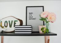 Black and White Nursery Letterboard