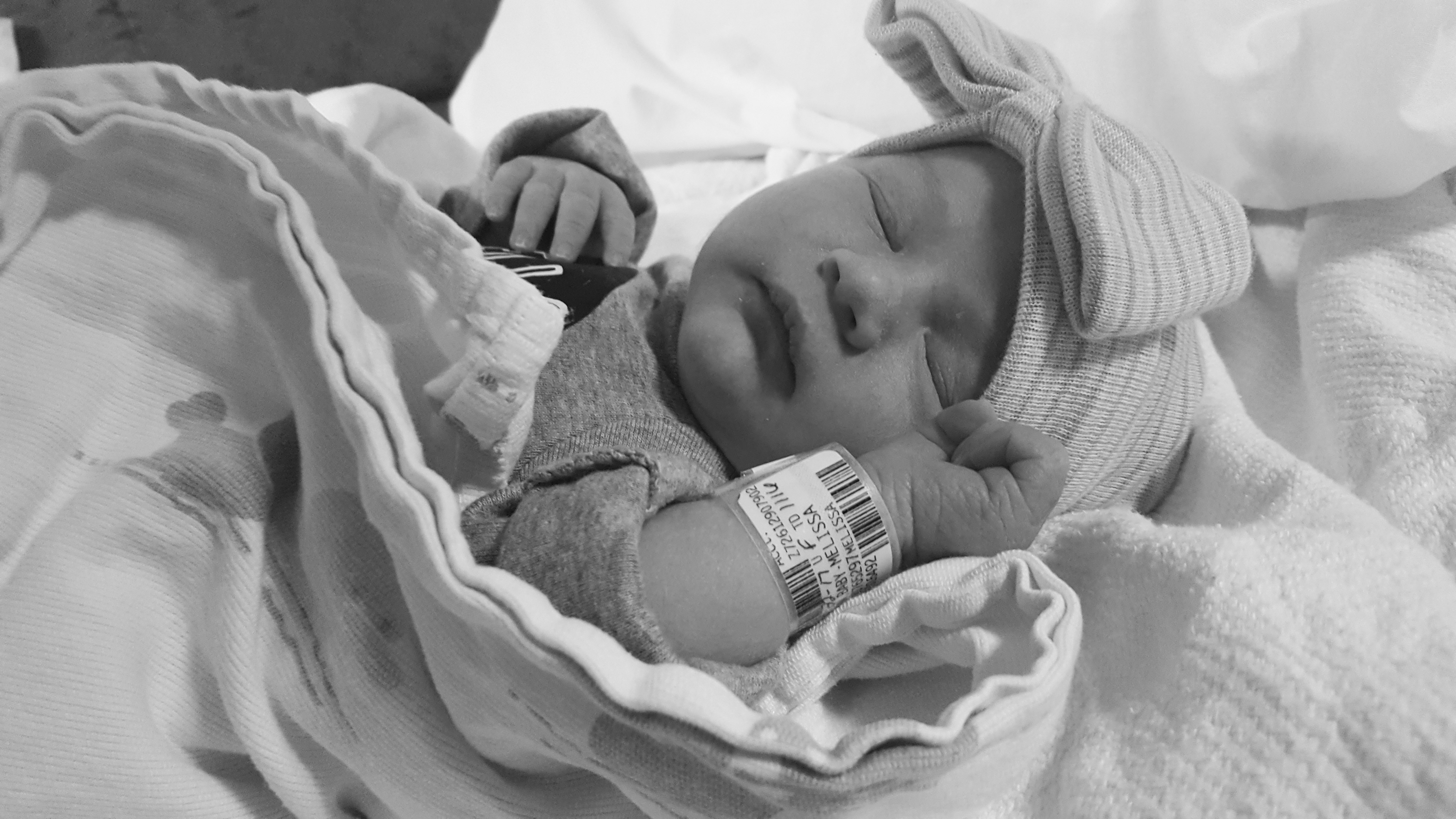 Emma birth photos going home