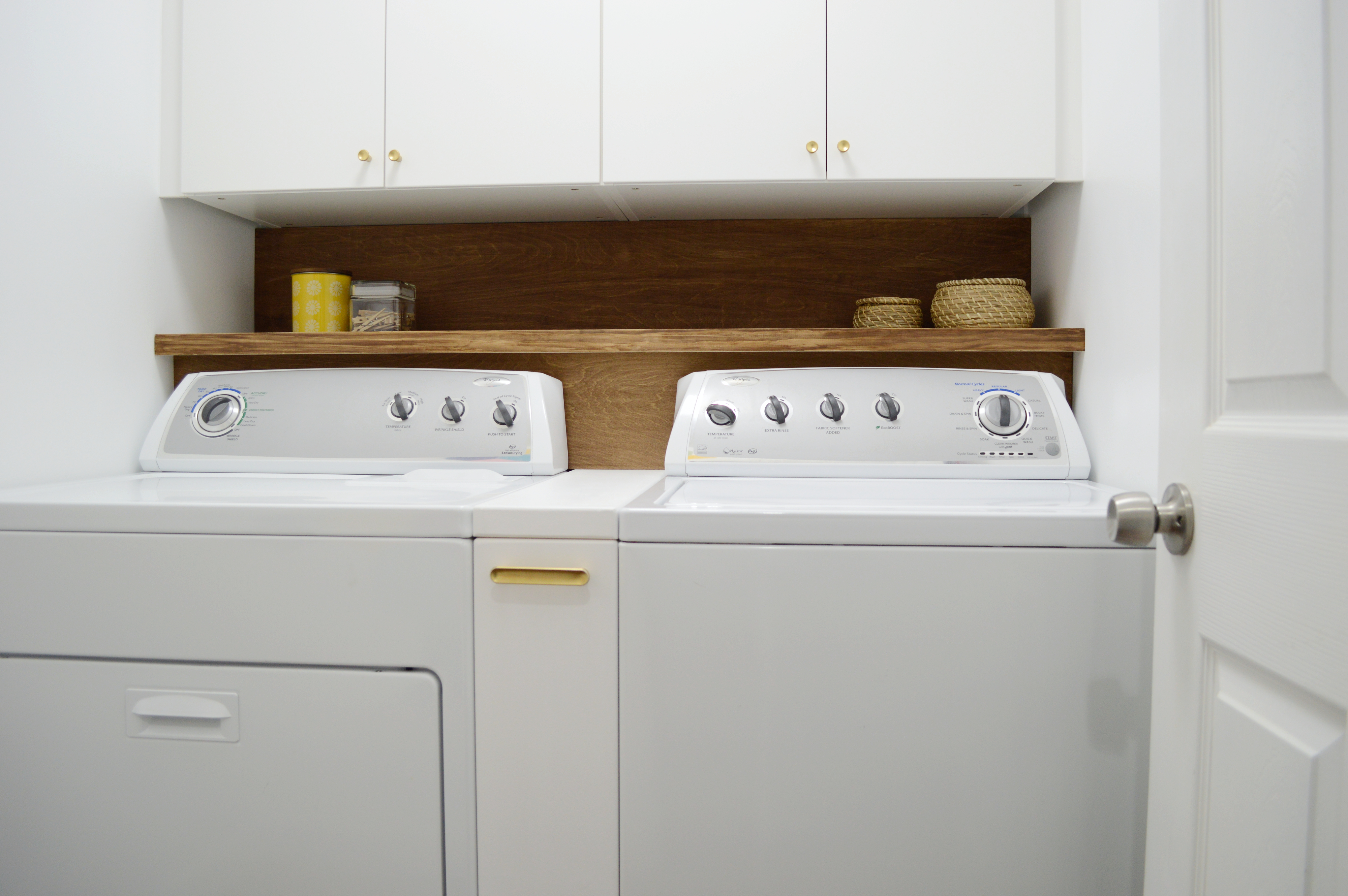 Beautiful Small Laundry Room Reno Our One Room Challenge Reveal Two Months Late Loving Here